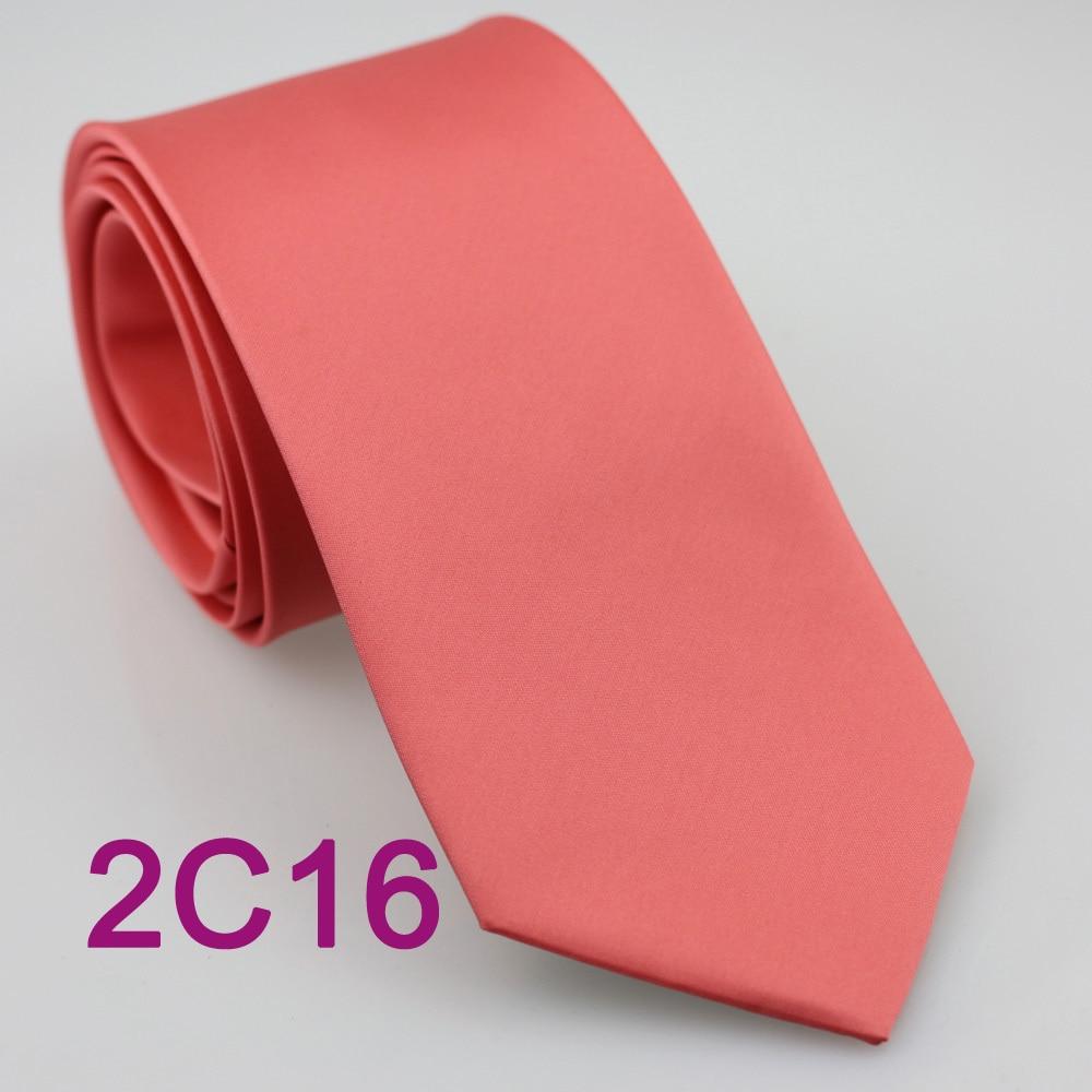yibei coachella tie coral pink necktie solid color
