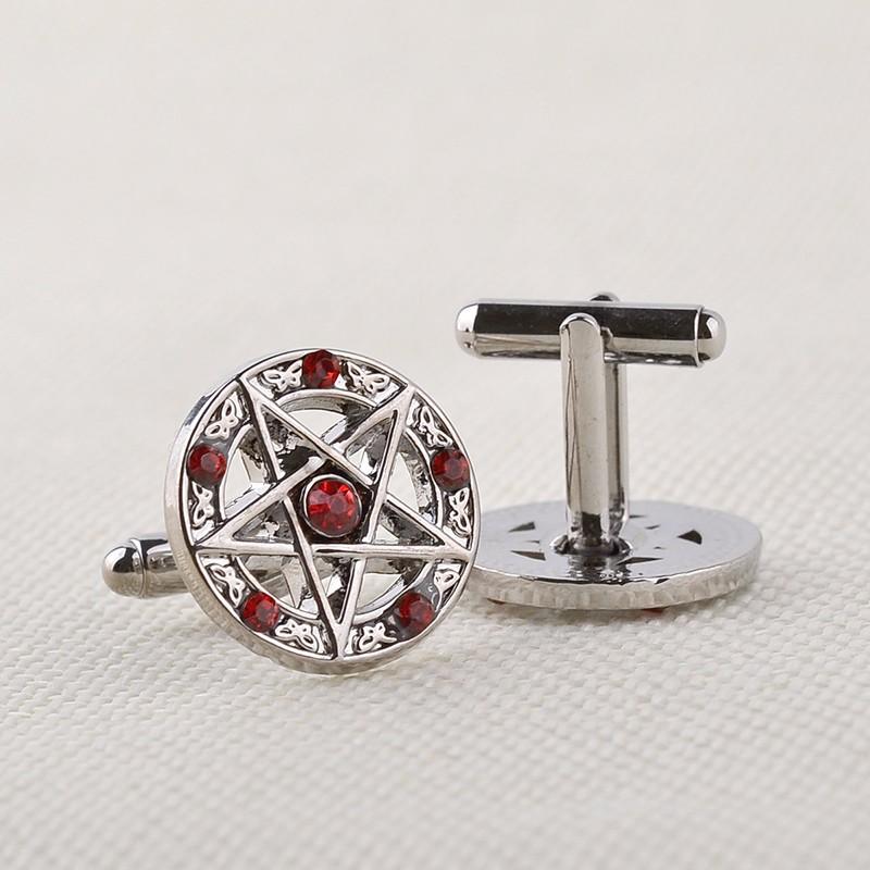 HTB1T3cMNVXXXXaaapXXq6xXFXXXl - Pentagram and Butterflies Design Cufflinks