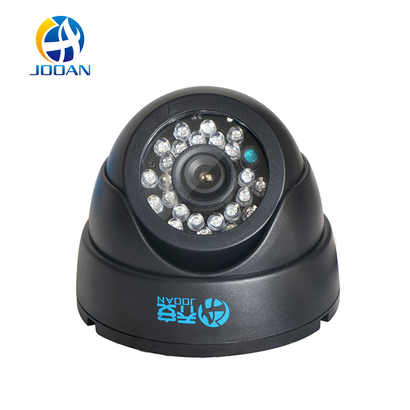цена на JOOAN 1/3 Color CMOS 700TVL Dome MINI CCTV Camera HD Indoor Black 24 IR Leds Day Night Security Home Video Surveillance Camera