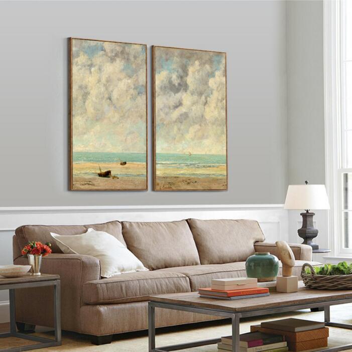 Neue GERAHMTE Fertig zum Aufhängen Monet Meer Ansicht Seascape Wall ...