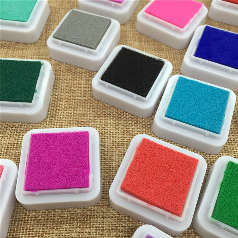 Image 5 - 24 Colors Cute Inkpad Cartoon Stamp Craft Oil Based DIY Ink Pads for Rubber Stamps Scrapbook Decor Fingerprint Kids Toy-in Stamps from Home & Garden