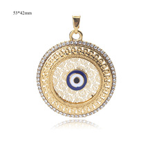 EVIL EYE 1pc new fashion gold Alloy evil eye connector jewelry accessories micro pave connector for