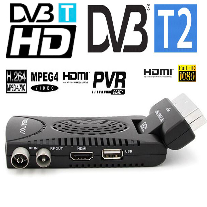 Mini Scart The Smallest Mini HD DVB-T2 Tv Receiver Compatilbe With DVB-T/MPEG-4/H.264 Dvb T2 Tuner Hdmi+scart Output