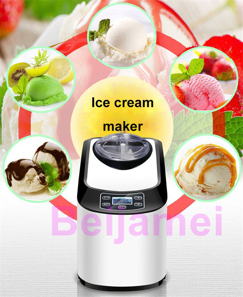 BEIJAMEI 1.5L Automatic Mini Ice Cream Machine for Household with Transparent Lid and Integrated Molding Ice Cream Barrel 3