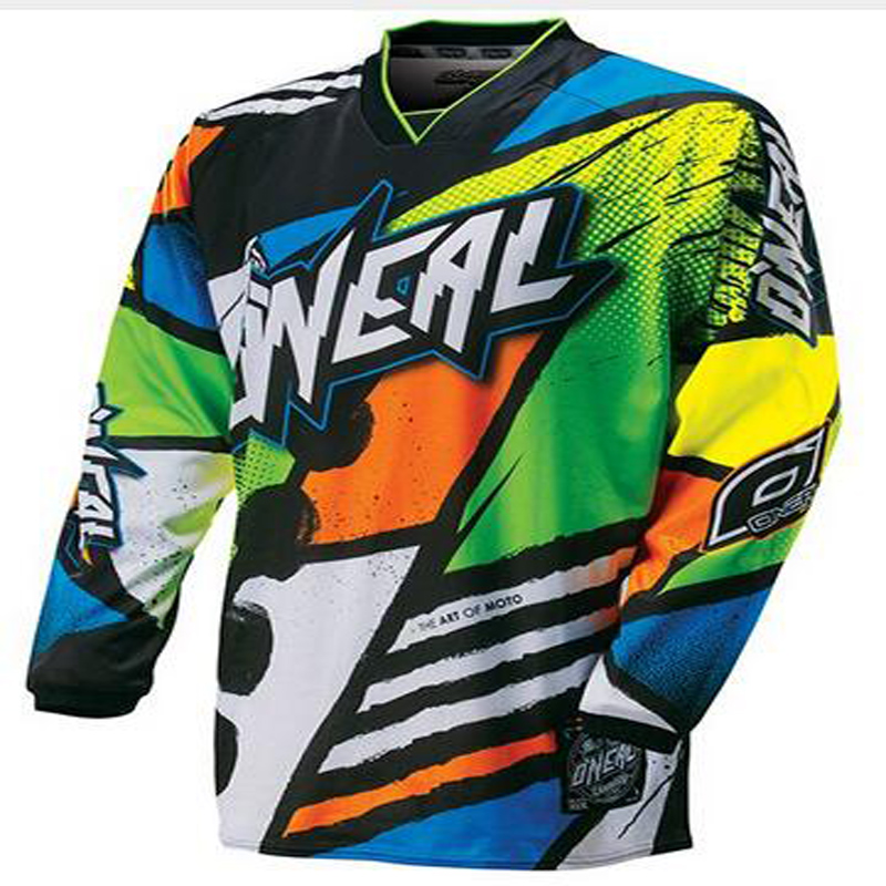Blue Green Yellow Orange Mountain Bike Cycling Jersey Motorcycle Long Sleeve Cycling Jersey Motorbike Shirts Clearance Sales
