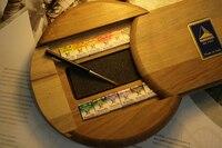 Бесплатная доставка maimeri художник уровень ТВЕРДАЯ ВОДА Цвет пигмент 12 Цвет деревянный ящик высокопоставленные костюм