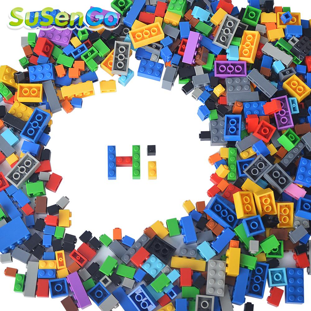 SuSenGo Building Blocks Kids Gift DIY Creative Free Style 1000 Pieces Brick Model Kits Children Toys Compatible with Lepin superwit 72pcs big size city diy creative building blocks brick compatible with duplo sets lepin educational toys children gifts
