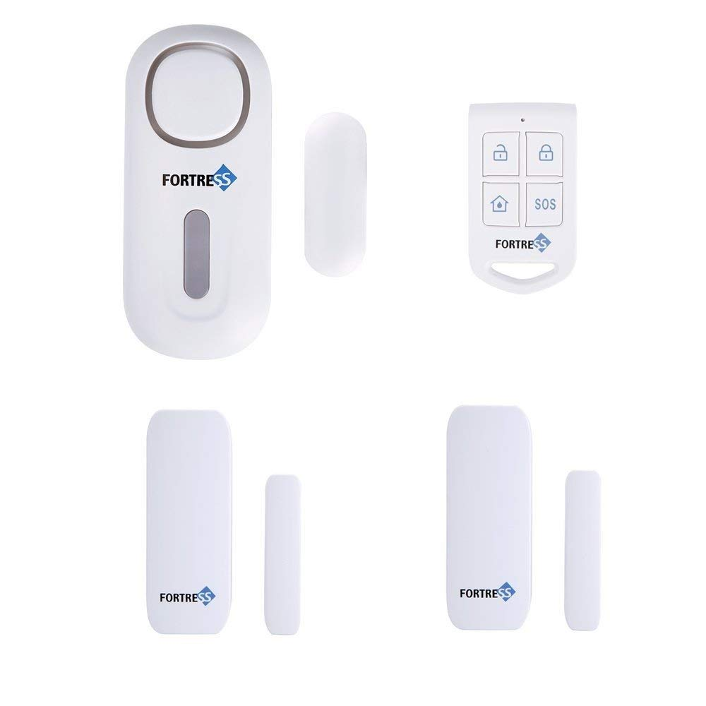 Fortress Wireless All-in-One Personal Home And Business Security Alarm DIY Kit Door Sensor Motion Alarm System Guardian Remote