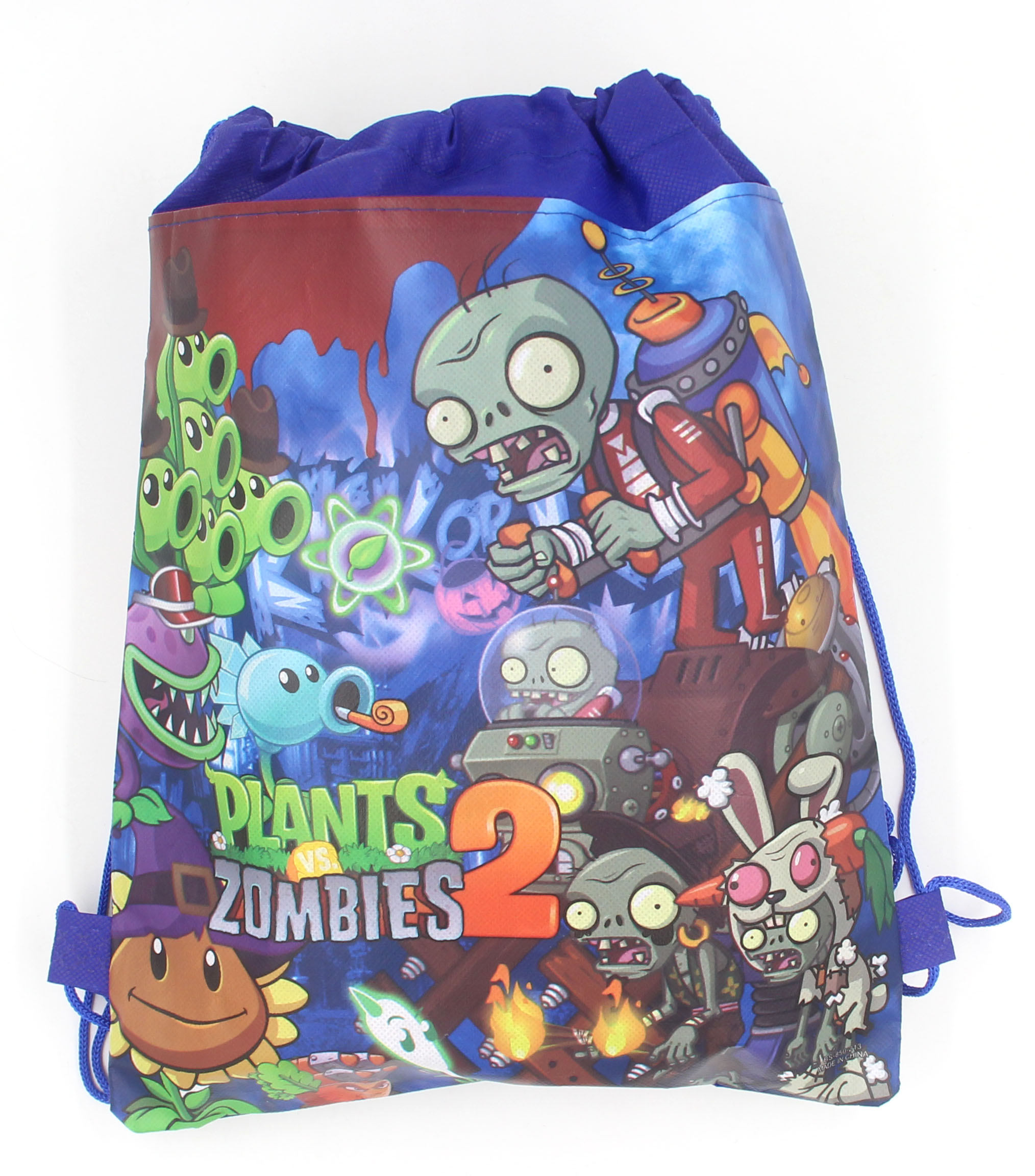 12Pcs New Plants Vs Zombies Drawstring Boys Girls Cartoon School Bag Children Printing School Backpacks For Birthday Party Gifts