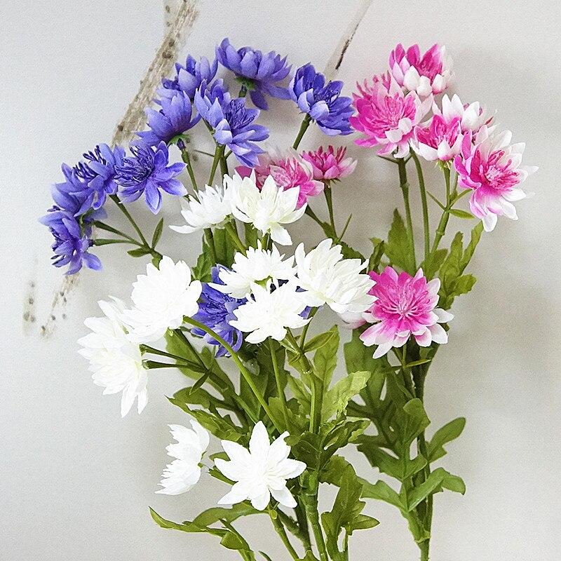 Belle lotus chrysanthème fleurs artificielles pour automne automne maison jardin décoration de mariage faux fleurs fleur artificielle