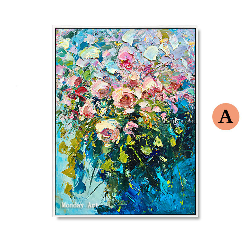 100-Hand-Painted-Colorful-Flowers-Art-Oil-Painting-On-Canvas-Wall-Art-Wall-Adornment-Pictures-Painting (4)
