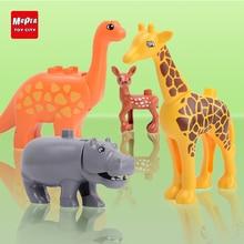 Zoo Model Building Blocks Original big Particles Bricks accessory Toys Compatible Duplo Animal deer panda Elephant penguin YY30