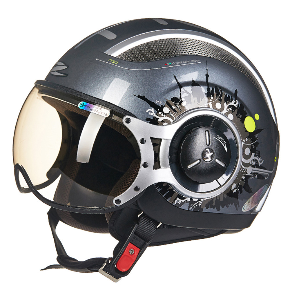 Casque Momo Design Us 109 73 Momo Style Chopper Pilot Motorcycle Helmet Capacetes Motociclismo 218z Cascos Para Moto Casque Motorhelm Open Face Helmets In Helmets From