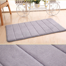 40*60cm Bath Mat Bathroom Carpet Water Absorption Rug Shaggy Memory Foam Kitchen Door Floor Products