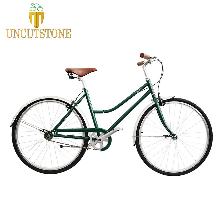 Cadre de vélo en acier rétro noir 700C ville rue pignon fixe vélo piste vélo simple vitesse 48 cm 52 cm fixie vélo vintage bricolage cadre