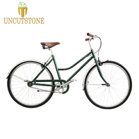 Retro Steel lady bike 26 inches female City street single bike Cruiser female Single speed Bike road city bike vintage