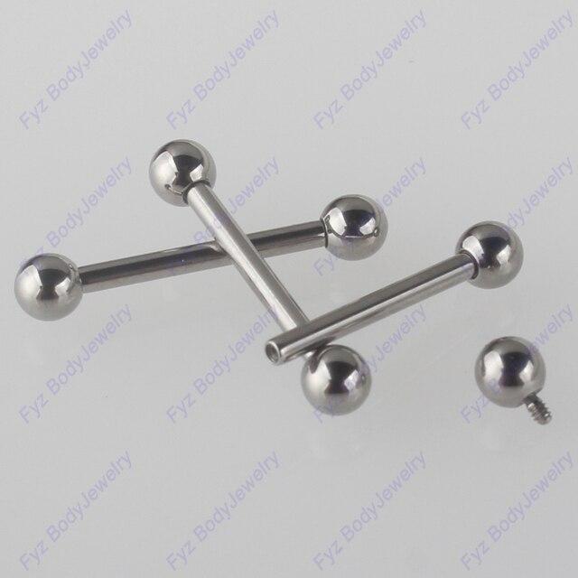 G23 التيتانيوم لولبة داخلية ثقب اللسان خواتم 16G 14G الحديد الأذن الغضروف هيليكس الزنمة مسمار حلقات للحلمات من الفولاذ مجوهرات