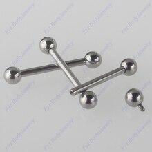 G23 titane intérieur filetage Piercing langue anneaux 16G 14G Barbell oreille Cartilage Helix Tragus Stud mamelon anneaux bijoux