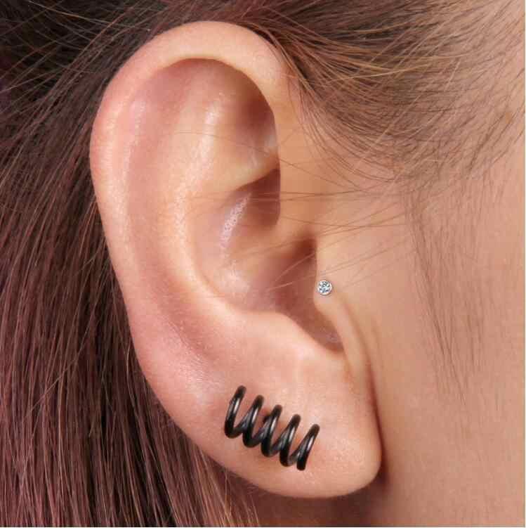 1a3d85085 ... New Stainless steel Prevent allergy Men Jewelry titanium girls HOT  earrings stud earring Spring ear nail