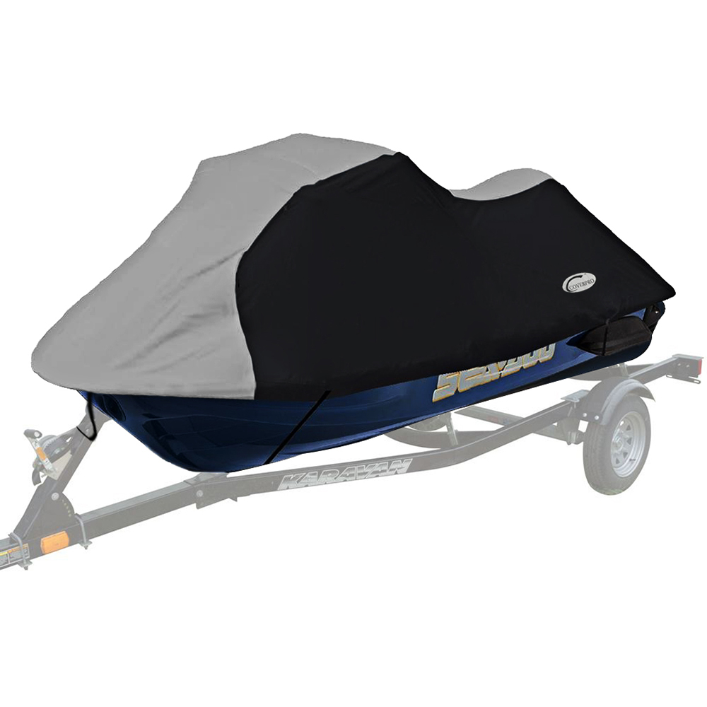 """210D PU Coated Oxford Polyester Jet Ski Cover,PWC Size:L 115-135"""" Boat Cover,PWC Suit 292-343cm Length,2-3 Seats"""