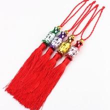 Chinese knots 100 pcs Tassels Silk Decoration Pendants DIY Thread Mini Tassel Trim New Year Apparel Sewing Fabric Fringe
