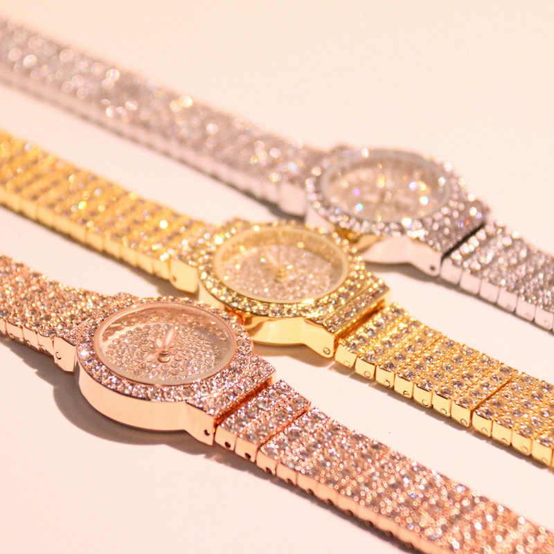 Новое поступление роскошные женские часы 2019 Модные Кварцевые женские наручные часы высокого качества повседневные наручные часы с бриллиантами Relogio Feminino