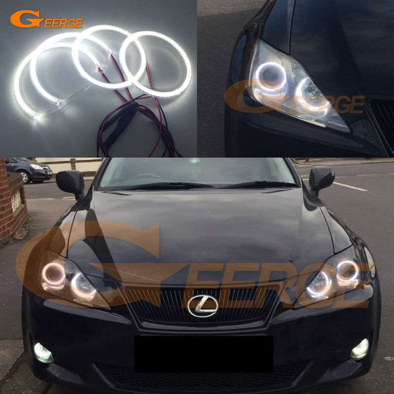 For Lexus IS220 IS250 IS350 IS-F 2006-2010 Excellent Ultra bright illumination smd led Angel Eyes kit Halo Ring free shipping for car rear lamp for lexus for is 250 for is350 led taillights year 2006 2014