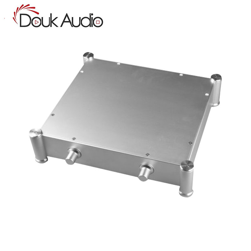 Douk Audio Silver Aluminum Chassis Tube Amplifier Case Audio Enclosure DIYDouk Audio Silver Aluminum Chassis Tube Amplifier Case Audio Enclosure DIY