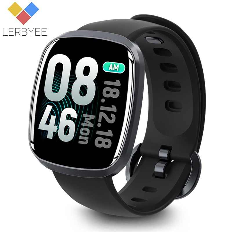 Lerbyee Smart Watch Waterproof GT103 Blood Pressure Fitness Tracker Sleep Monitor Music Control Full Screen Touch for iPhone