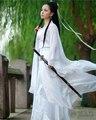 Frete Grátis Chinês Antigo Traje Roupas fantasia de Fada Tang Terno Hanfu Traje Guzheng Fadas Chiffon Vestidos