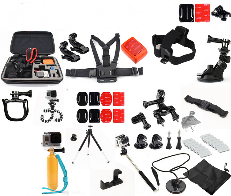 For GoPro accessories Family Kit GoPro accessories set GoPro accessories package for GoPro HD Hero 7 6 5 4 3+ 3 2 Free Shipping аксессуар gopro hero 7 black aacov 003 сменная линза
