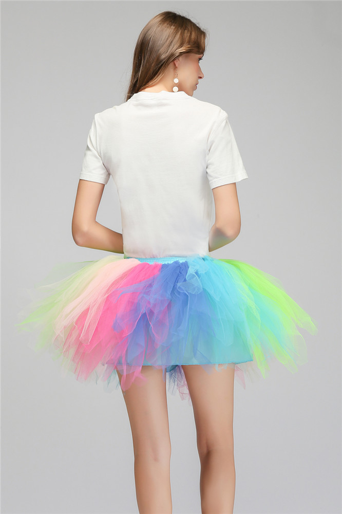 Купить с кэшбэком Rockabilly Wedding Bridal Petticoat Crinoline Short Mini Tulle Tutu Skirt Underskirt Wedding Accessories