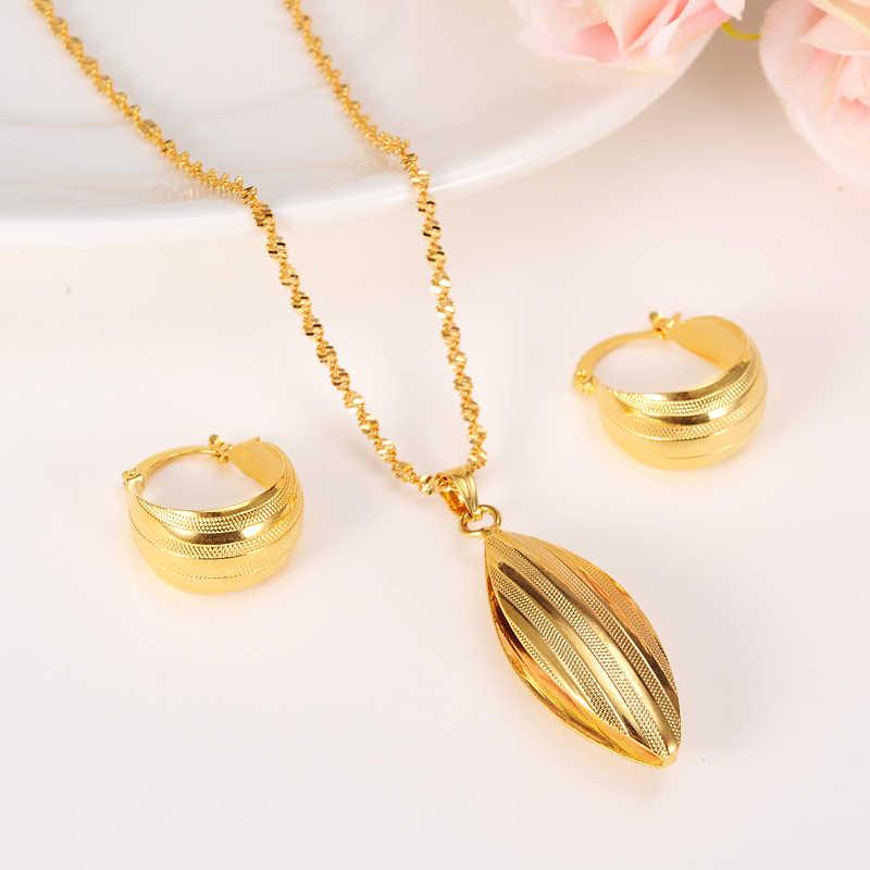 مجموعة إثيوبيا habesha نمط قلادة/أقراط/حلقة/سوار الذهب اللون دبي مجوهرات/هدية الزفاف السودان