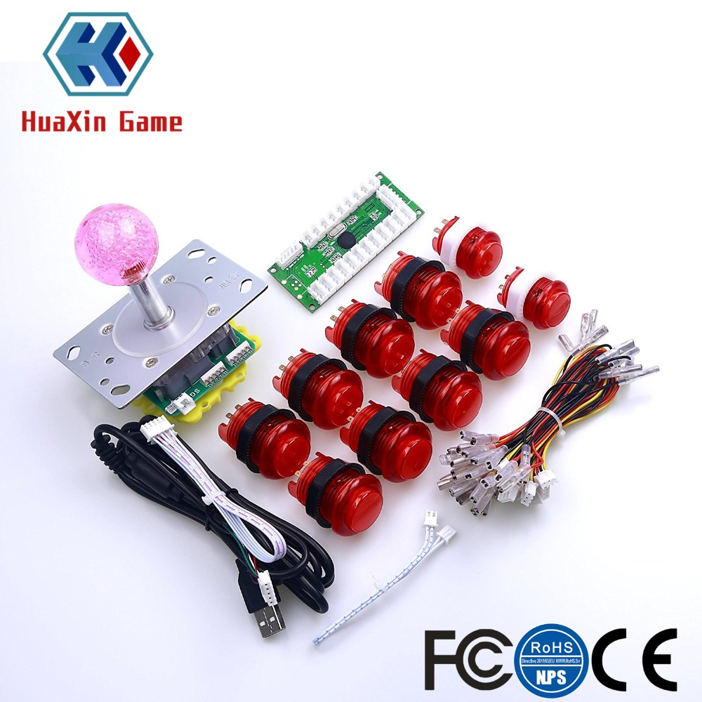 5v Led Lights Illuminated Push Buttons Switch For Mame Raspberry Pi Part Soft And Light Fashion Style Arcade Video Game Diy Kit Usb Encoder+red Led Joystick Entertainment
