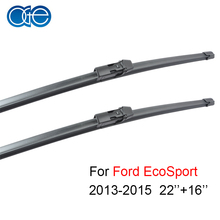 "Oge 22""+16"" Wiper Blade For Ford EcoSport 2013 2014 2015 Natural Rubber Car Auto Accessories"