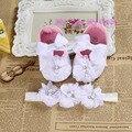 Marfil botines recién nacidos los bebés zapatos de niño ; sapatos infantis meninas bebé zapatos de la bailarina ; niñas bautismo conjunto