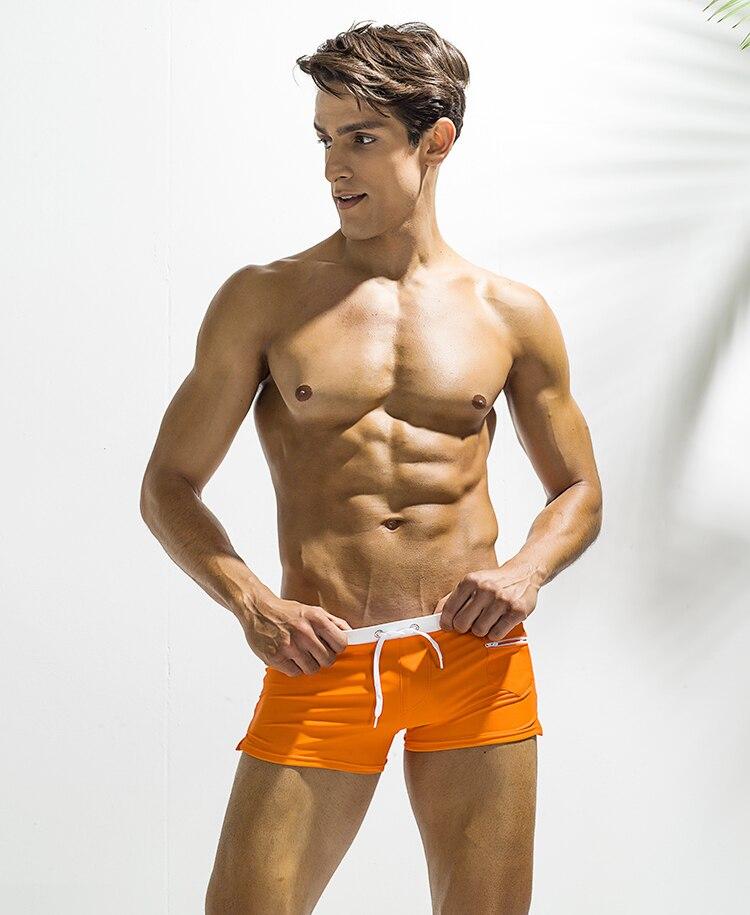 Topdudes.com - Men's Sexy Beach Swim Trunks With Pocket