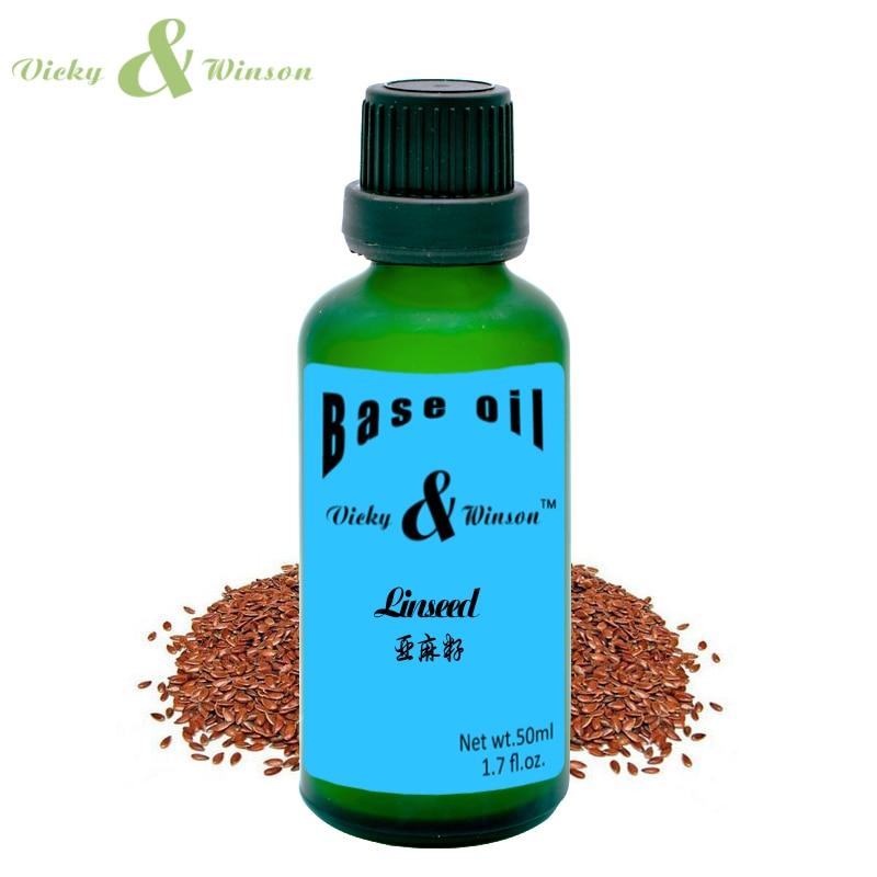 Vicky & winson huile de lin 50ml 100% pure huile de base végétale huiles essentielles soins de la peau huile de lin savon artisanal Anti-inflammatoire