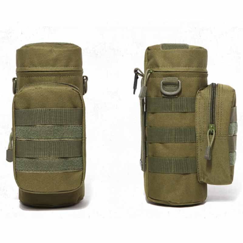 Tactical Water Bottle Pouch Kettle Gear Waist Shoulder Bag for Outdoor Climbing