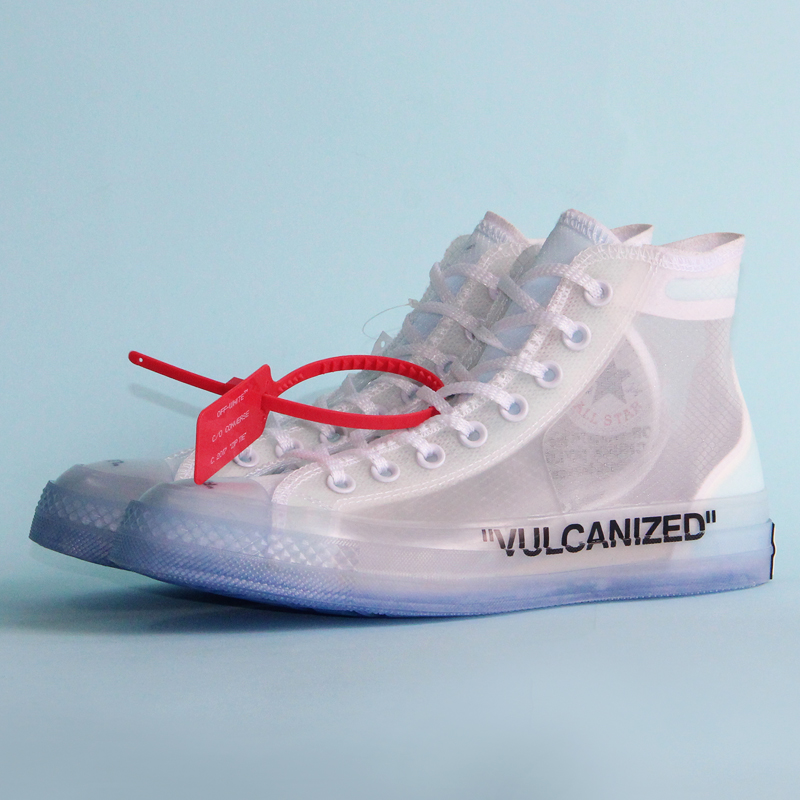 1970 s D'origine Converse OFF BLANC lucency all star chaussures vintage hommes et femmes chaussures de sport unisexes chaussures pour skateboard 162204C - 2