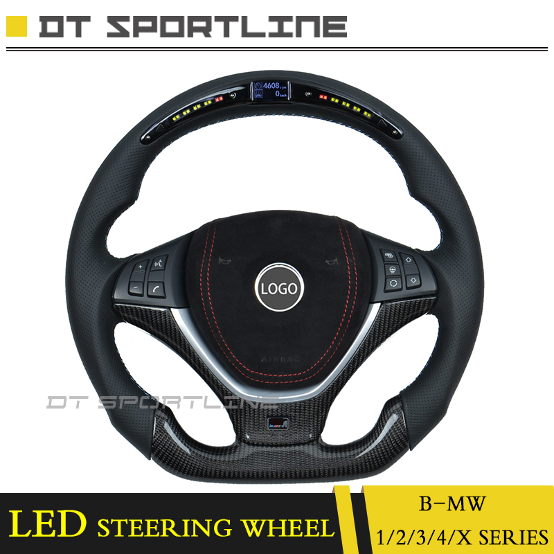 For BMW F32 G30 E60 LED Steering Wheel Trims Replacement Accessories F22 X5 X4 X3 race display LCD screen guage meter steering