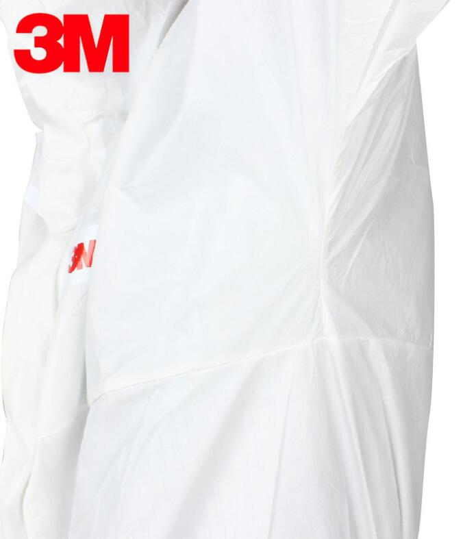 3M protective clothing disposable hooded body dust-proof particles and liquid anti-static clothing 3m 4515white non woven fabric coverall clothes anti static and anti chemical liquid splash and effective protection of particles
