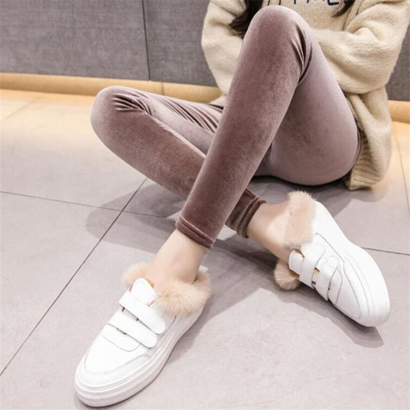 Plus Velvet   Leggings   Hot New Fashion Women's Autumn And Winter High Elasticity And Good Quality Thick Velvet Pants Warm   Leggings