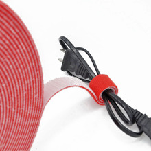 12Meter 15mm Self Adhesive strong short Hook and Loop fastener Tape back to Cable Ties Magic tape DIY Accessories
