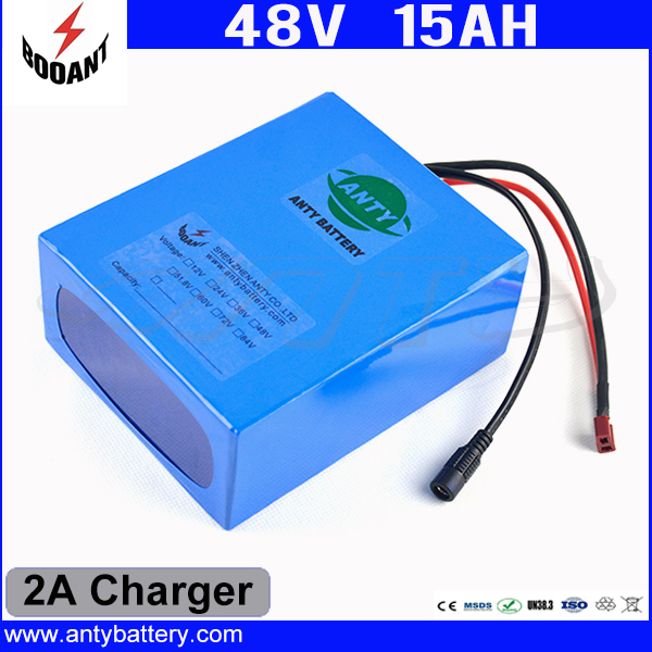 EU US Free Customs Duty 48v 550W e-Bike Battery 48v 15Ah Lithium ion Battery Pack With 2A Charger Electric Bicycle Battery 48V free customs taxes high quality skyy 48 volt li ion battery pack with charger and bms for 48v 15ah lithium battery pack