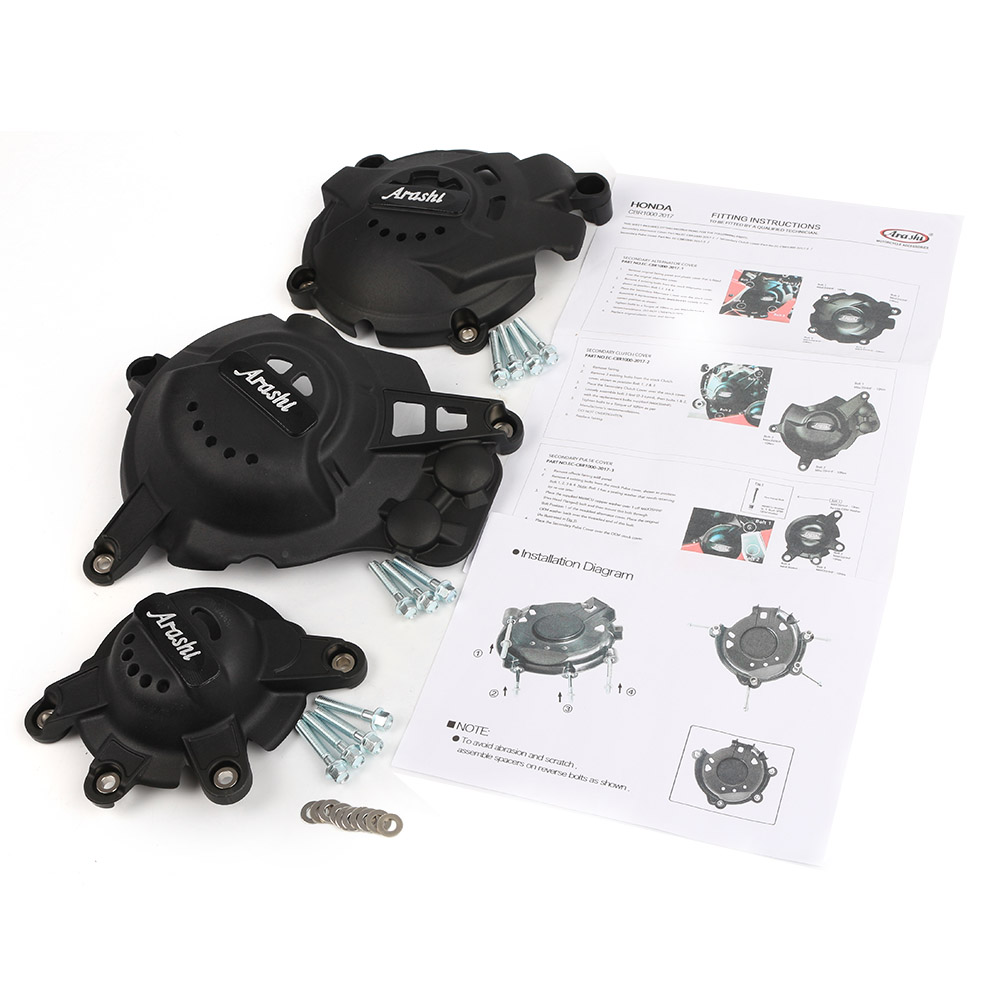 For HONDA CBR1000RR CBR 1000 RR 2017 2018 Engine Stator Crankcase Cover Set Motorcycle Parts brand new motorbike accessories engine stator cover black motorbike engine stator cover for honda cbr600 f4 f4i for all year