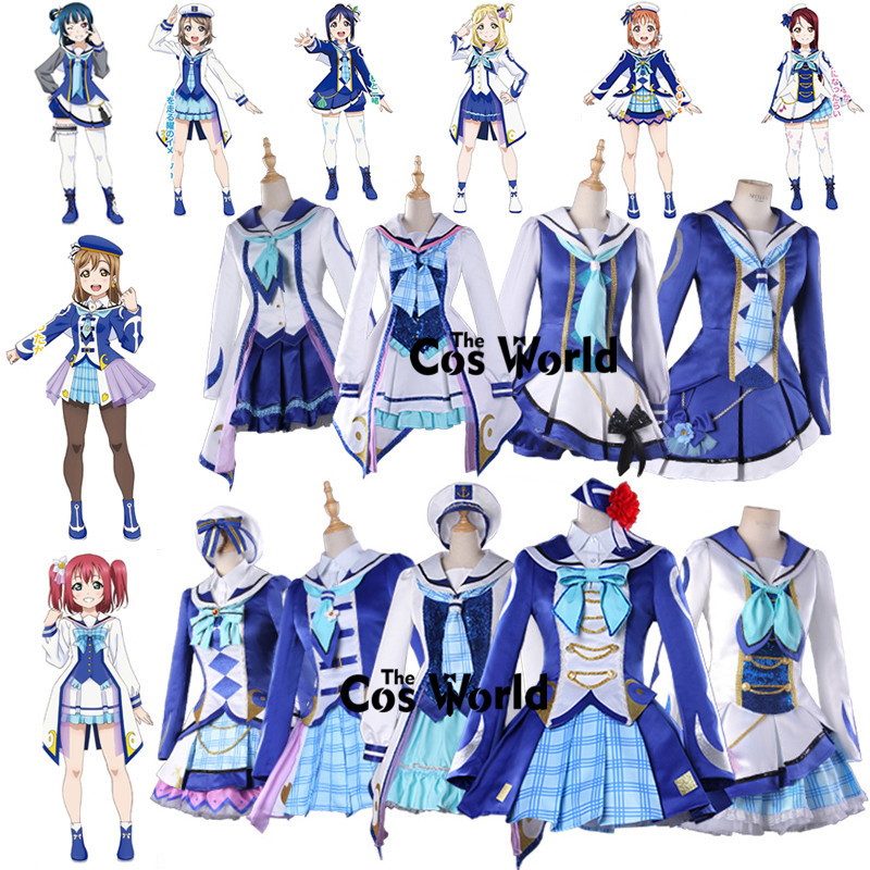 Love Live Sunshine Aqours OP2 Fight Song Takami Chika Sakurauchi Riko Ohara Mari Coat To ...