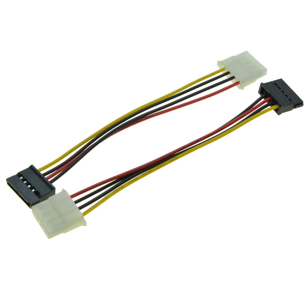 4 Pin Molex PC IDE Female to 15 Pin SATA Male Power Adapter Convertor 2/_7WTUS