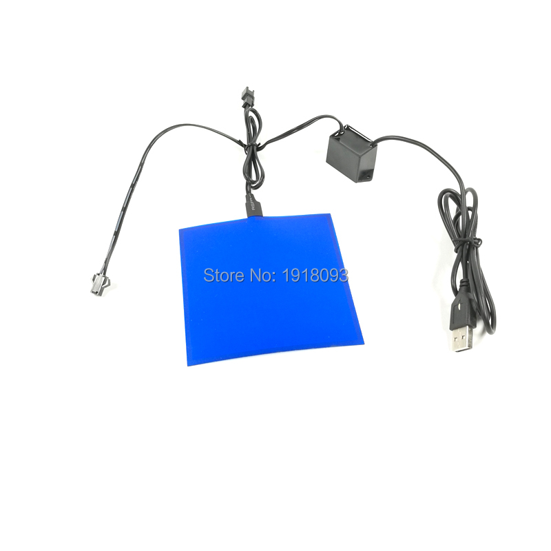 2019 New 6 Color Choice Powered By DC-5V USB Drive 10X10CM Novelty Lighting EL Sheet EL Panel For House Festival Decoration