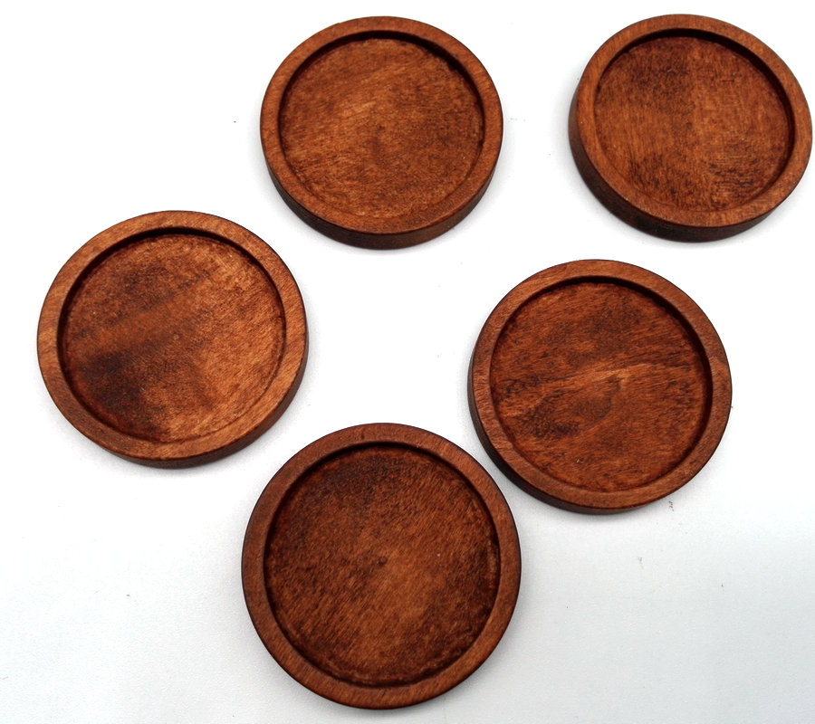 Ebay Motors Careful 300pcs Tray Size 12mm-25mm Wooden Cameo Setting Base Tray Round Natural Light Pine Or Bleach Color Rose Cherry Wood Color Comfortable And Easy To Wear